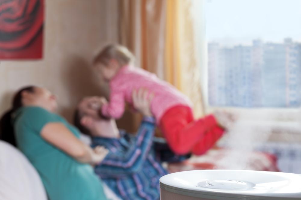 Luftbefeuchter im Wohnraum